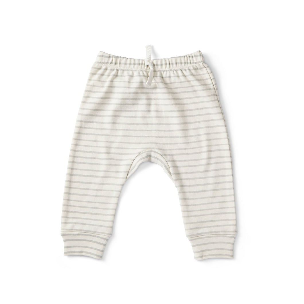 Stripes Away Harem Pant - Pebble