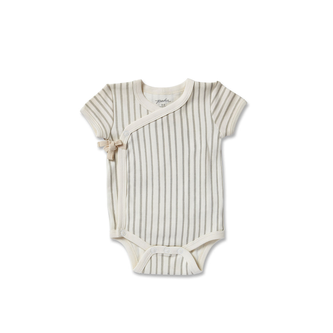 Stripes Away Kimono One Piece - Pebble