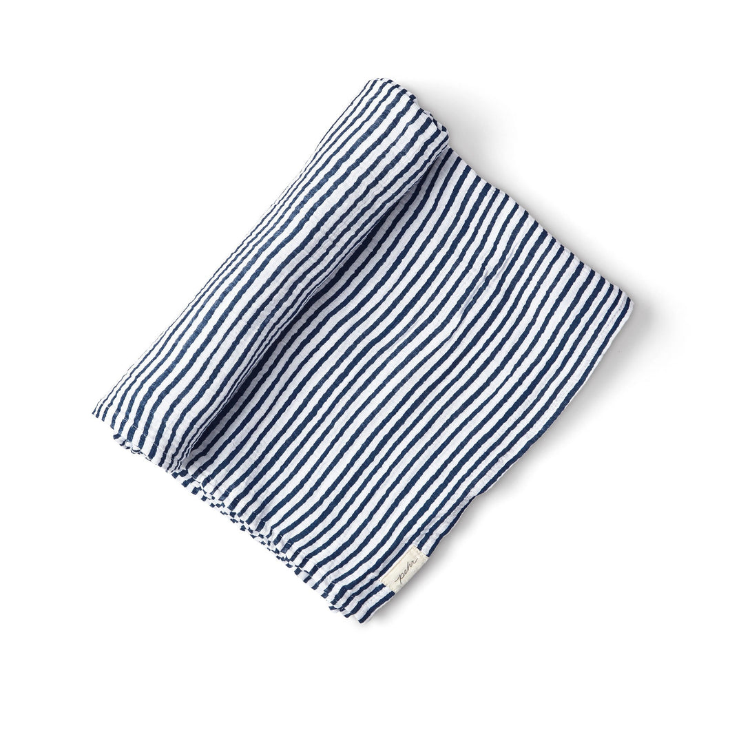 Swaddle Blanket - Stripes Away (Ink)