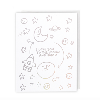 Sparkle Card - Love You to the Moon and Back