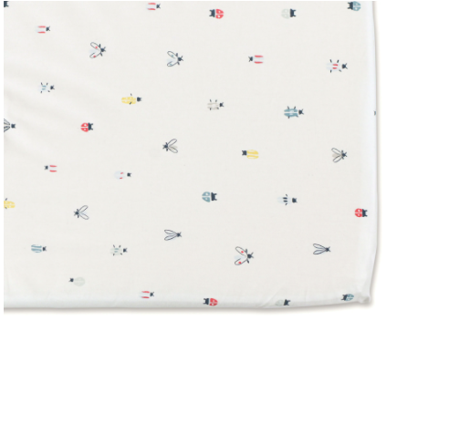 Fitted Crib Sheet - Love Bug