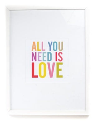 Colourful Art Print - All You Need is Love