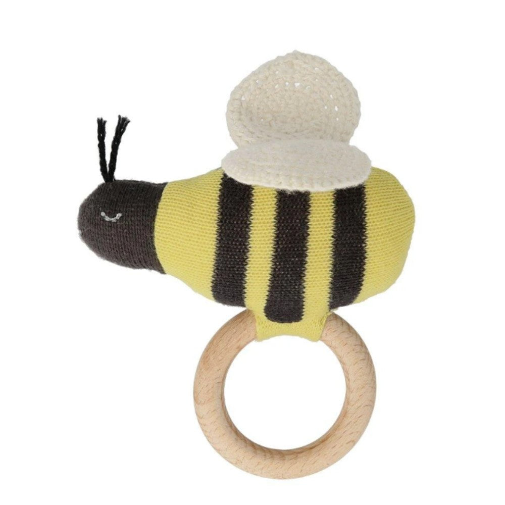 Knitted Rattle - Bumblebee