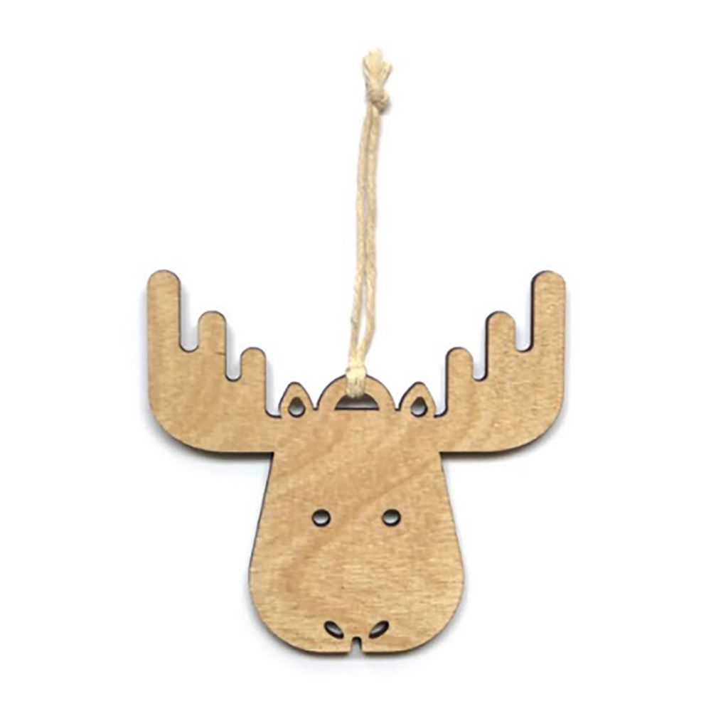 Wooden Ornament - Moose