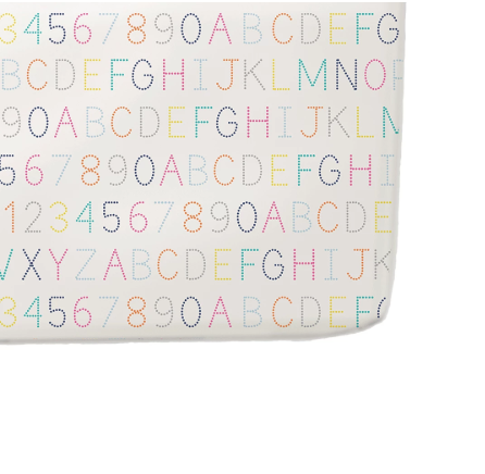 Fitted Crib Sheet - Alphabet