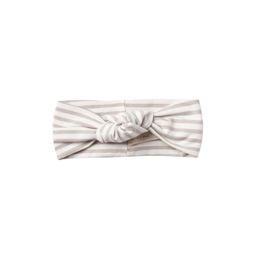 Knot Headband - Fog (Stripe)