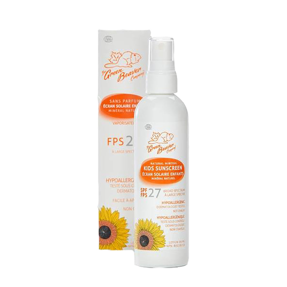 Kids Natural Mineral Sunscreen Spray SPF