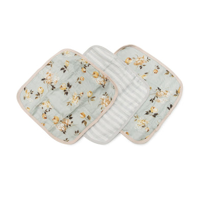 Muslin Washcloth Set (set of 3) - Wild Rose