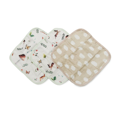 Muslin Washcloth Set (set of 3) - Gnome