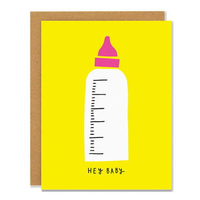Colourful Card - Baby Bottle