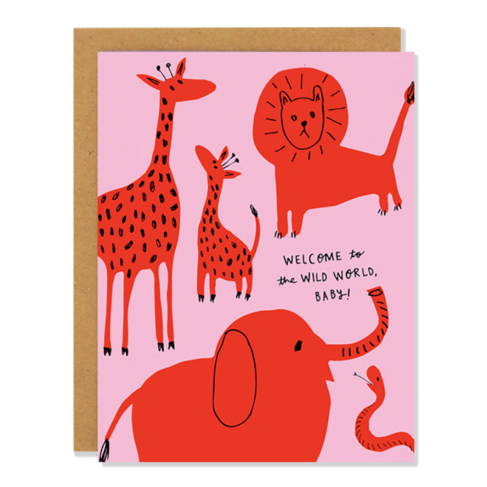 Colourful Card - Welcome to the Wild World