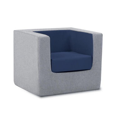 Cubino Kids Chair - Nordic Grey/Navy