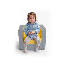 Cubino Kids Chair - Nordic Grey/Pink