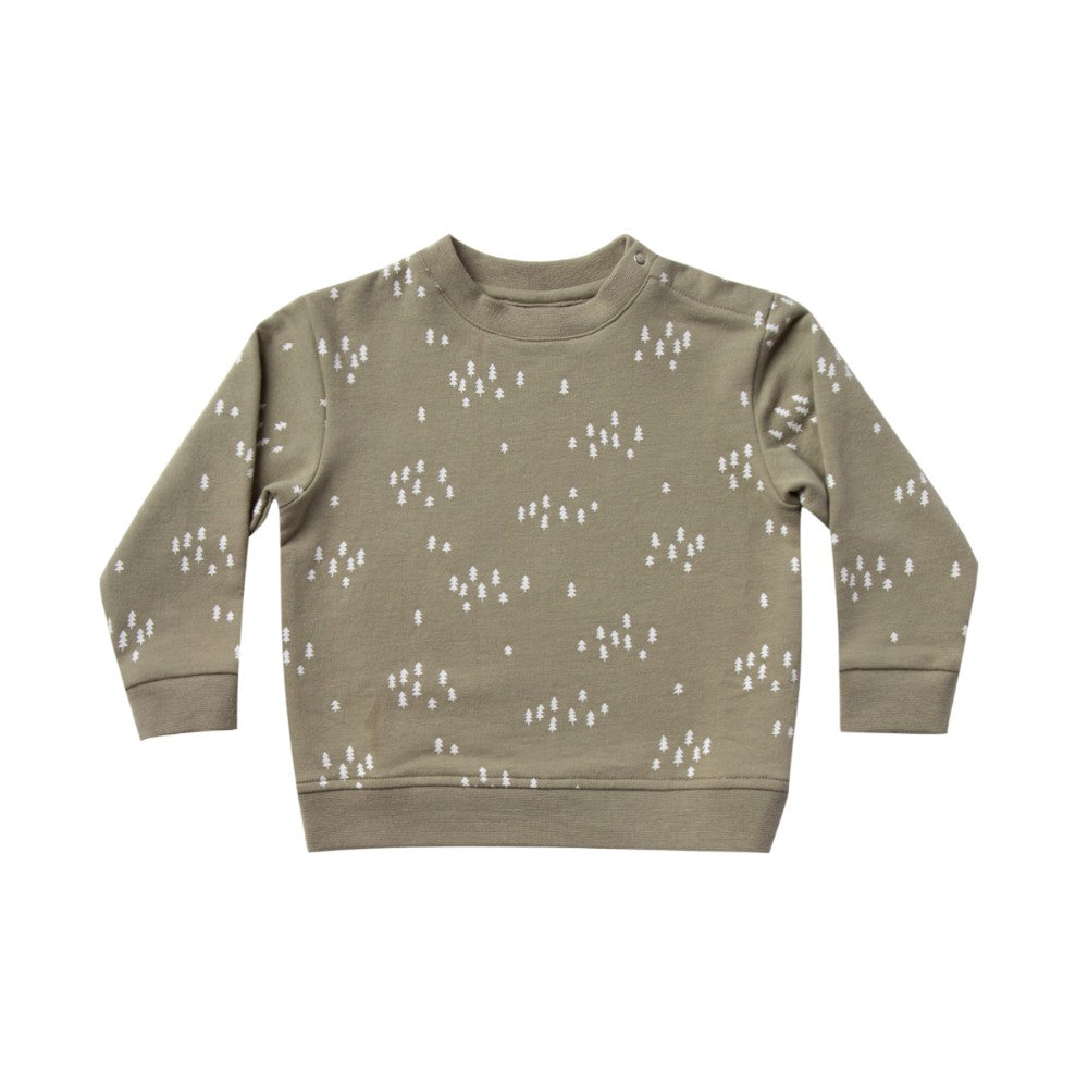 Fleece Sweatshirt - Olive (Trees)