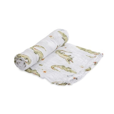 Cotton Muslin Swaddle - Gators