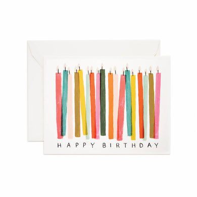 Colourful Card - Birthday Candles