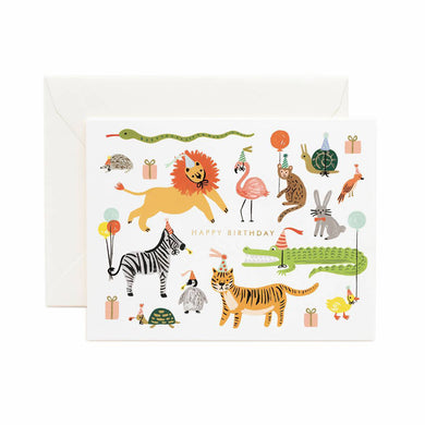 Colourful Card - Party Animals