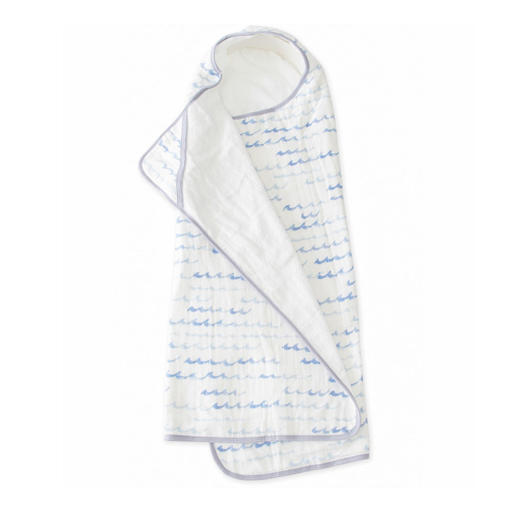 Big Kid Cotton Hooded Towel - High Tide