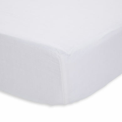 Cotton Percale Crib Sheet - White
