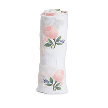 Cotton Muslin Swaddle - Watercolour Rose