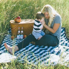 Outdoor Blanket + Play Mat - Navy Gingham