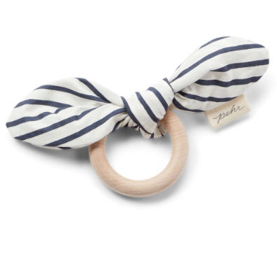 Wooden Crinkly Teether - Ink Stripe