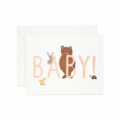Colourful Card - Baby! (Peach)