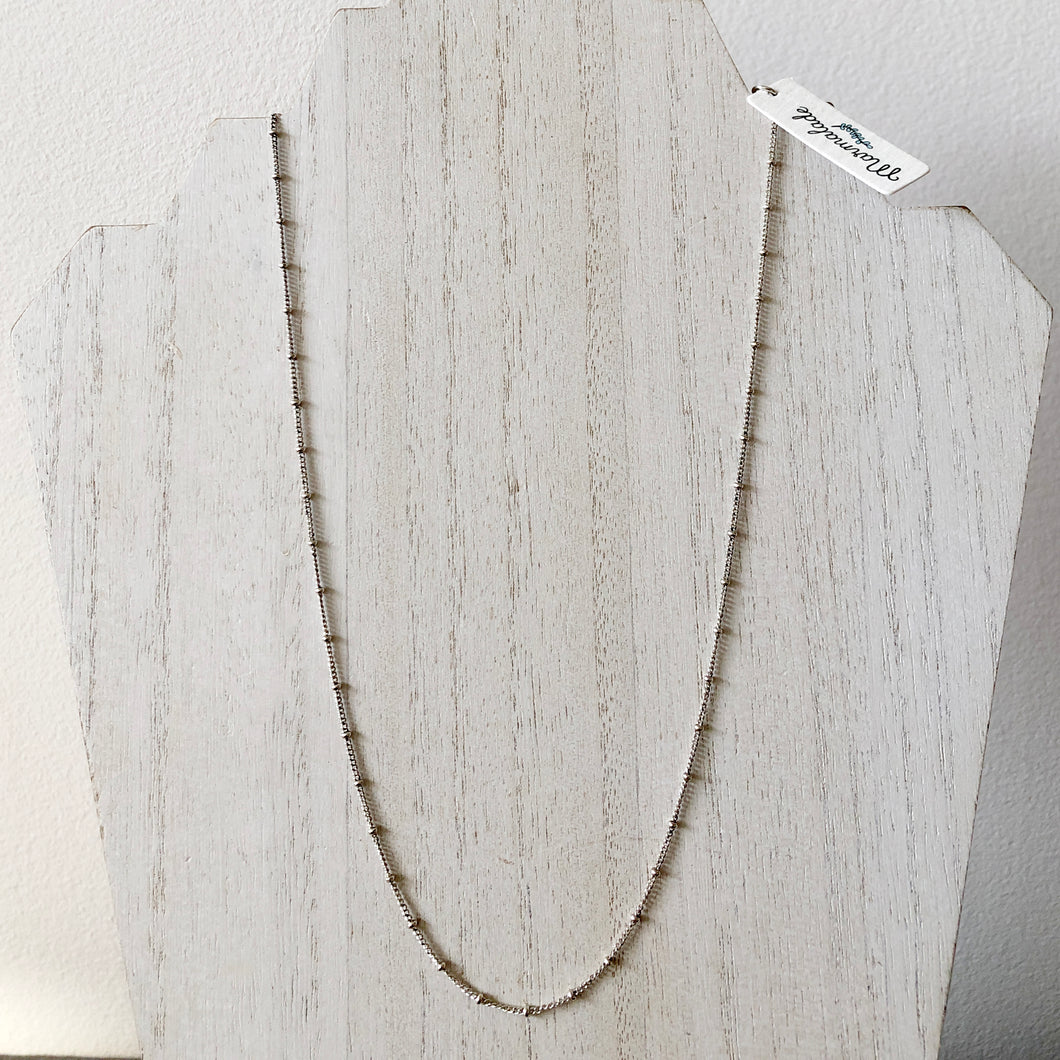Sterling Silver Oxidized Satellite Chain