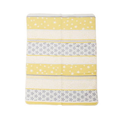 Organic Cotton Blanket - Patchwork Stars (Yellow)