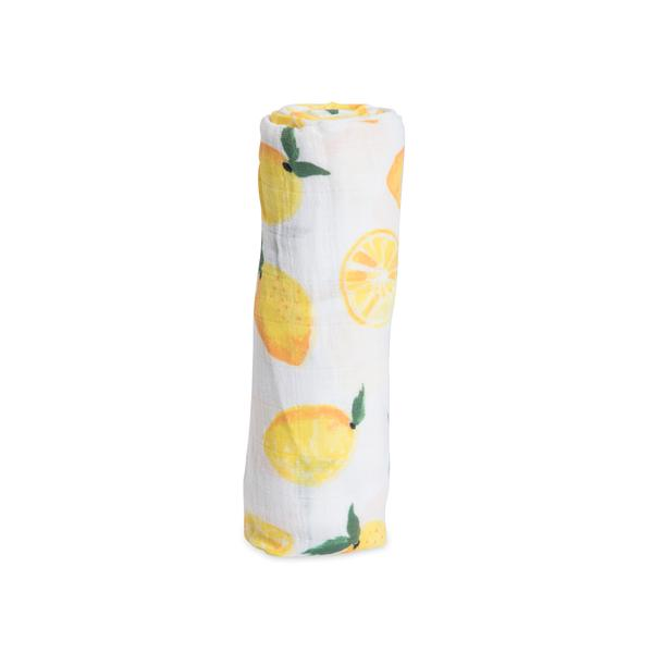 Cotton Muslin Swaddle - Lemons