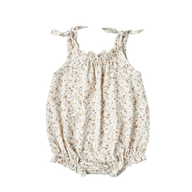 Shoulder Tie Bubble Romper - Meadow