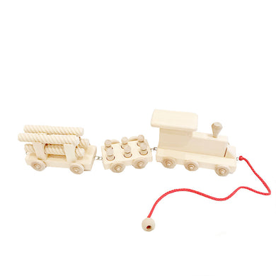 Wooden 3 Car Train Set