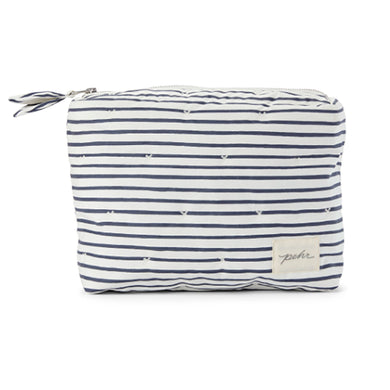 Travel Pouch - Navy Stripe