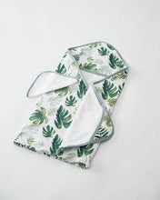 Cotton Hooded Towel & Wash Cloth - Tropical Leaf