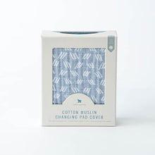 Cotton Muslin Change Pad Cover - Blue Grass