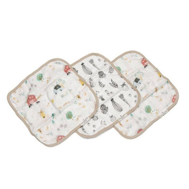 Muslin Washcloth Set (set of 3) - Farm Animals
