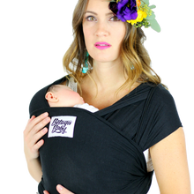 Bamboo Baby Wrap Carrier - The Sawyer (Black)