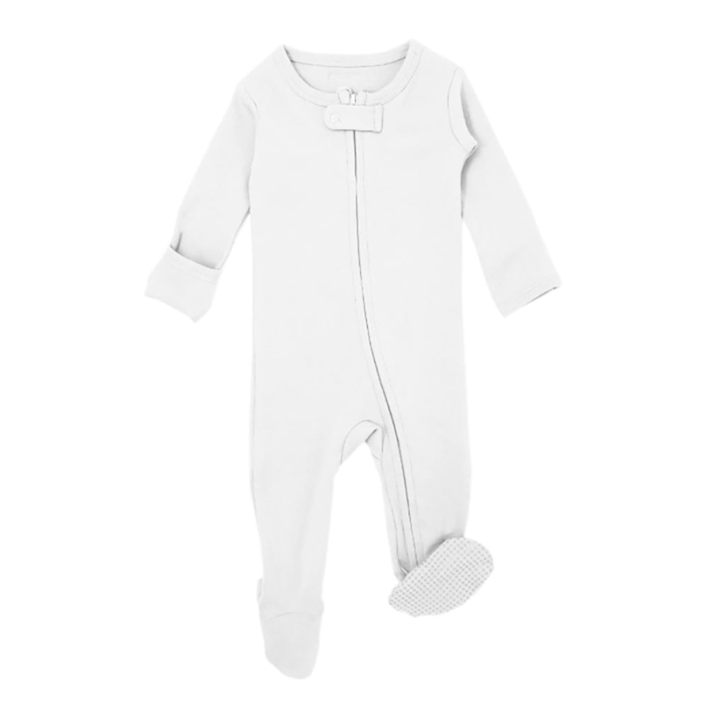 Zipper Footed Sleeper - White