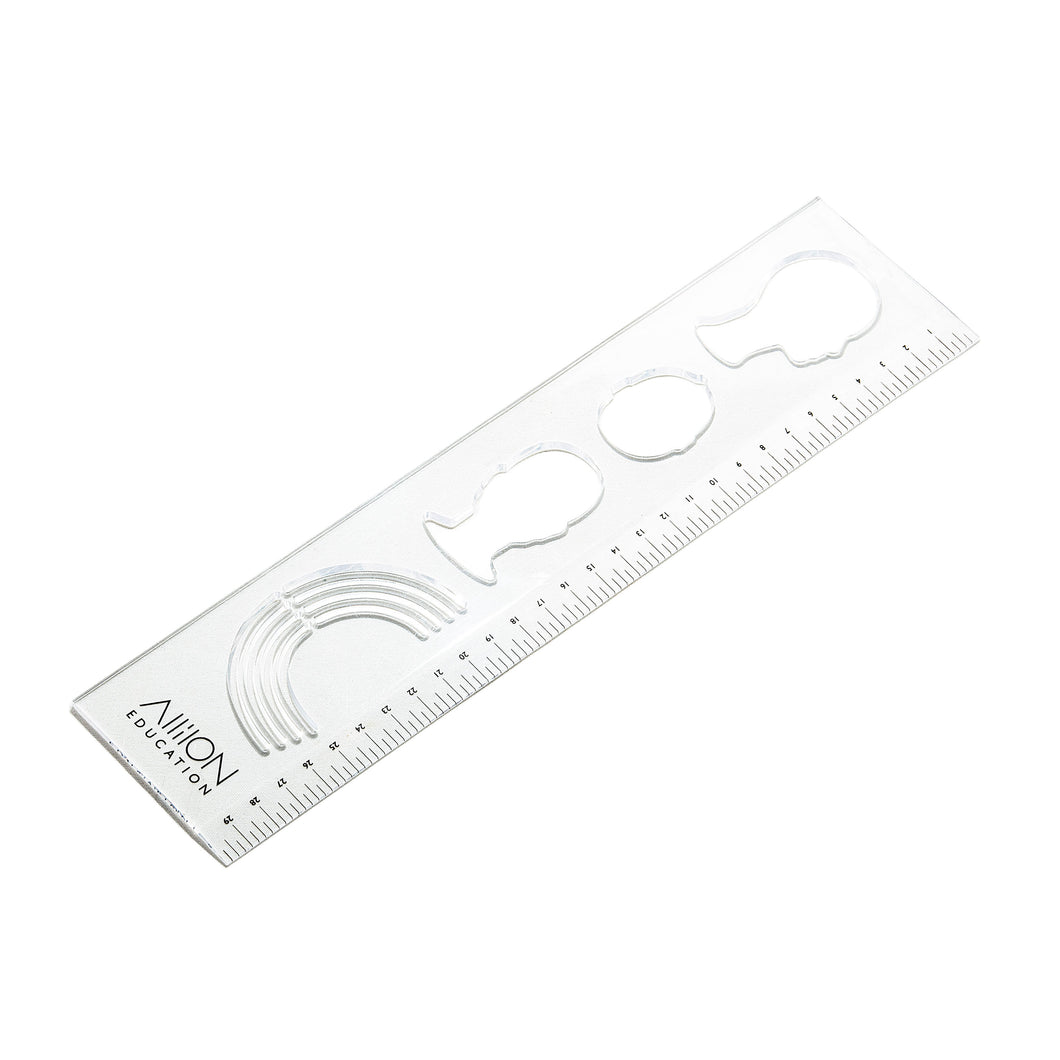 Clear Head Template Ruler