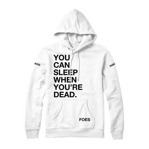 Sleep When Ur Dead Hoodie White