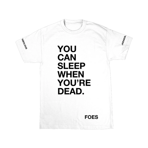Sleep When Ur Dead T-Shirt White