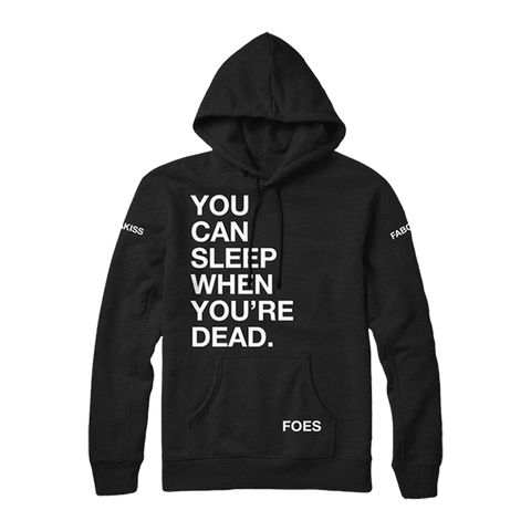 Sleep When Ur Dead Hoodie Black