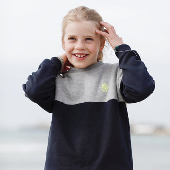 Kinder Sweatshirt BICOLOR MINI SEEMANN neon