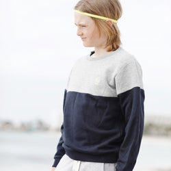 Kinder Sweatshirt BICOLOR MINI SEEMANN neon | ankerherz.de