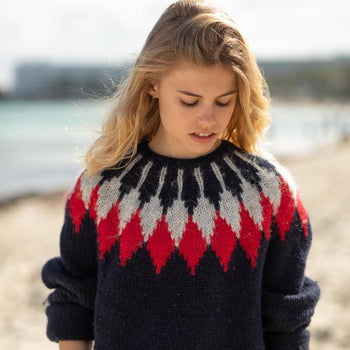 Islandpullover für Kinder in Navy