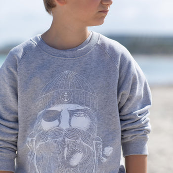 Kinder Sweatshirt GREY SAILOR