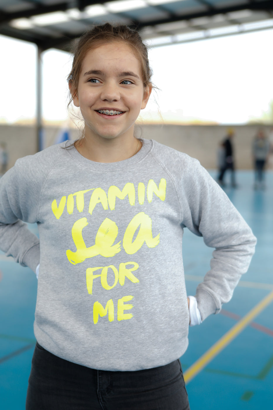 Kinder Sweatshirt VITAMIN SEA FOR ME neon | ankerherz.de
