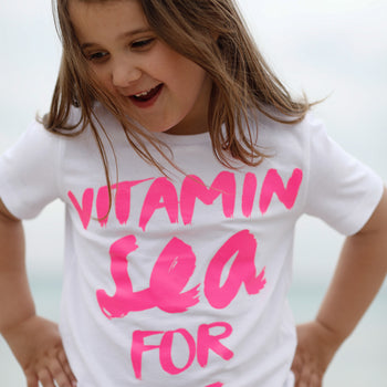 Kinder T-Shirt VITAMIN SEA FOR ME neonpink