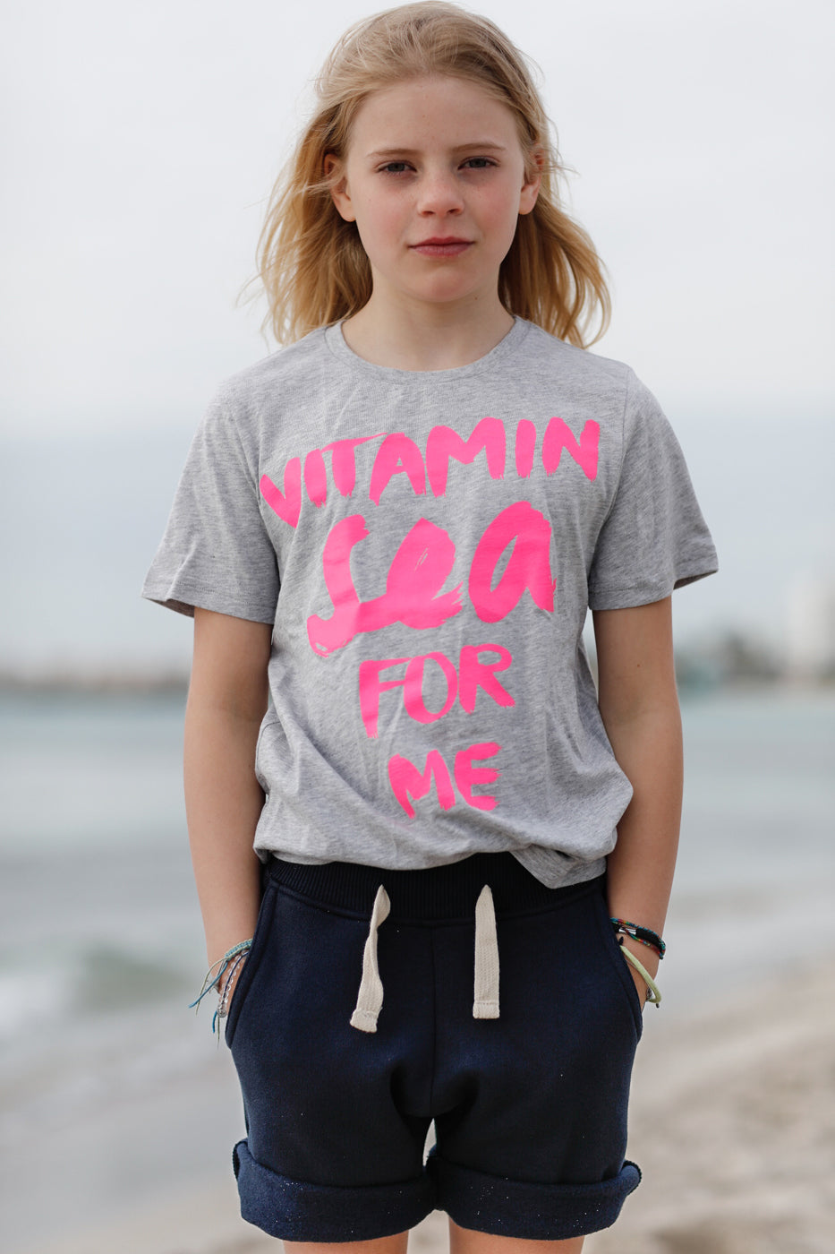 Kinder T-Shirt VITAMIN SEA FOR ME neonpink | ankerherz.de