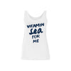 Frauen Tanktop  mit Motto Print VITAMIN SEA FOR ME | ankerherz.de